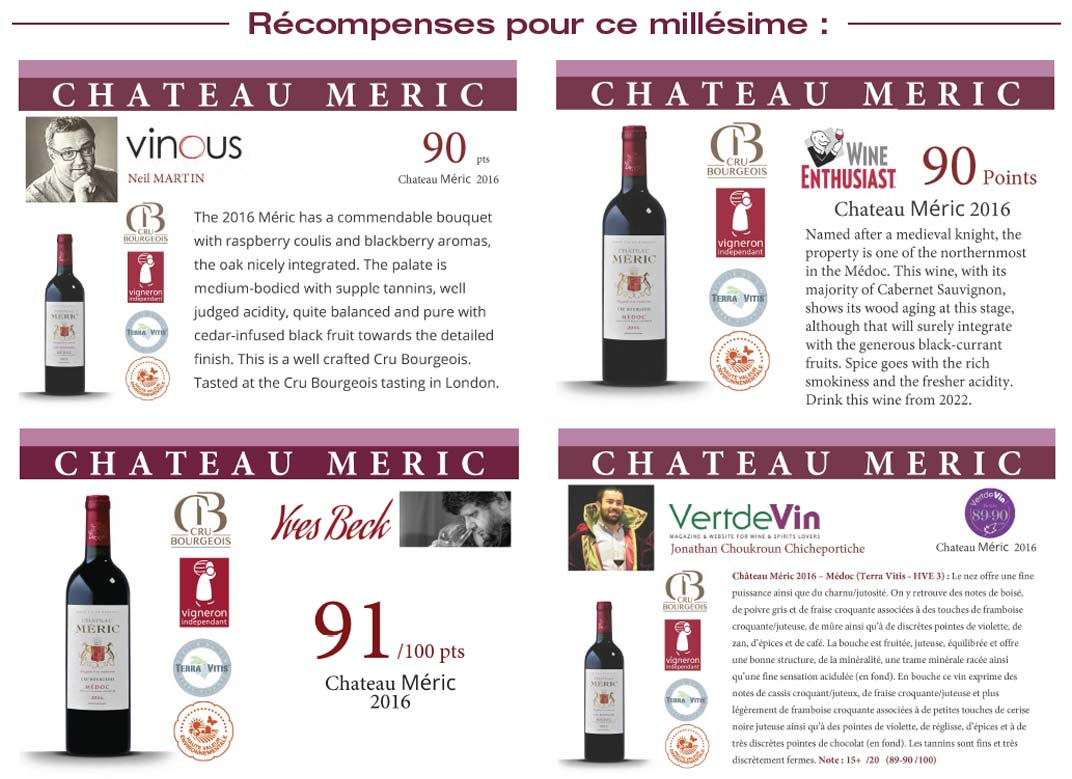 recompense chateau meric 2016