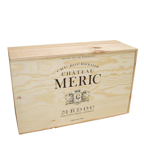 Wood boxes 12 x 75 cl