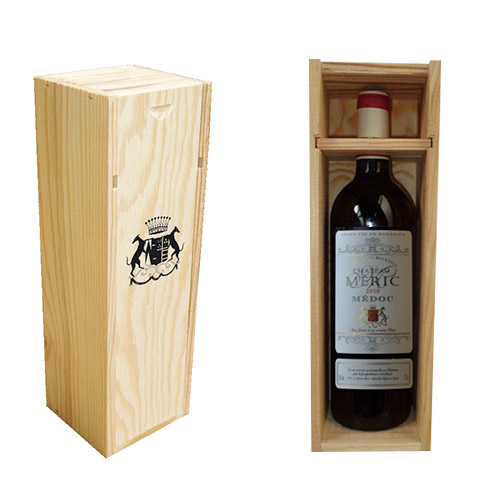Wood boxes 1 x 75 cl